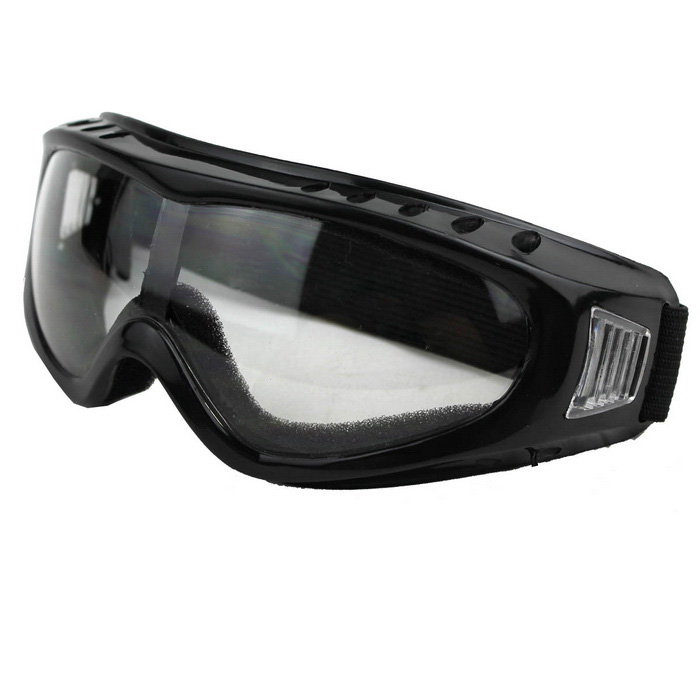 Outdoor Cycling Windproof PVC Lens Goggles - Transparent + Multicolor