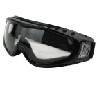 Outdoor Cycling Windproof PVC Lens Goggles Glasses - Transparent + Multicolor