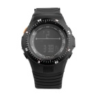 SYNOKE Unisex Multi-Function Waterproof PU Band Sports Digital Watch w/ Hourly Chime - Black