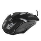 JEQANG JM-063 Colorful Breathing Lights Wired Gaming Mouse - Black