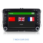 "7"" Capacitive Touchscreen Win CE 6.0 Car DVD Player w/ GPS / BT / Radio / USB for VW Skoda - Black"
