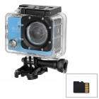 "170 Degree Wide Angle 2.0"" LTPS CMOS 14MP 1080P Mini DV / Sports Camera w/ TF, Wi-Fi - Blue + Black"