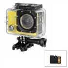 "170' Wide Angle 2.0"" LTPS CMOS 14MP 1080P Mini DV / Sports Camera w/ TF, Wi-Fi - Yellow + Black"