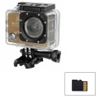 "170 Degree Wide Angle 2.0"" LTPS CMOS 14MP 1080P Mini DV / Sports Camera w/ TF, Wi-Fi - Champagne"