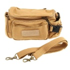 Caden F0 Waterproof Vintage Casual Canvas Camera Shoulder Bag for DSLR Canon and More - Khaki