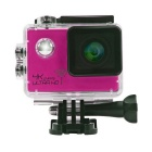 "2.0"" HD 1080P CMOS 170' Wide-Angle 16MP 4K Wi-Fi Waterproof Sports Camera Camcorder - Dark Pink"