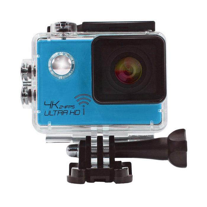 2.0 HD 1080P 16MP 4K Wi-Fi Waterproof Sports Camera Camcorder - BlueSport Cameras<br>Form  ColorBlueModelSJ8000Shade Of ColorBlueMaterialABSQuantity1 DX.PCM.Model.AttributeModel.UnitImage SensorCMOSAnti-ShakeYesFocal DistanceN/A DX.PCM.Model.AttributeModel.UnitFocusing RangeN/AOptical ZoomOthers,Built-in SpeedliteNoWide Angle170 degree A+ grade wide angleEffective Pixels16.0MPImagesJPGStill Image Resolution16M 4608x3456 <br>14M 4320x3240<br>12M 4032x3024<br>10M 3468x2736<br>8M 3264x2448<br>5M 2592x1944<br>3M 2048x1536<br>VGA 640x480VideoOthers,MP4Video Resolution4k(3840 x 2160)24FPS       2K(2560 x 1440)30FPS     1920*1080 60fps<br>1280 x 720 60fpsVideo Frame Rate30,60,Others,24Audio SystemStereoCycle RecordYesISOOthers,100/200/400Exposure CompensationOthers,-2.0:;-5/3;-4/3;-1.0;-2/3;-1/3;+0.0;+1/3;+2/3;+1.0;+4/3;+5/3;+2.0Scene ModeAutoWhite Balance ModeOthers,Auto, Daylight, Cloudy, Tungsten, FluorescentSupports Card TypeTFSupports Max. Capacity32 DX.PCM.Model.AttributeModel.UnitBuilt-in Memory / RAMNoInput InterfaceMicOutput InterfaceMicro USB,Mini HDMILCD ScreenYesScreen TypeOthers,LTPS LCDScreen Size2.0 DX.PCM.Model.AttributeModel.UnitBattery Measured Capacity 900 DX.PCM.Model.AttributeModel.UnitNominal Capacity900 DX.PCM.Model.AttributeModel.UnitBattery TypeLi-ion batteryBattery included or notYesVoltage3.7 DX.PCM.Model.AttributeModel.UnitBattery Charging Time3HoursLow Battery AlertsYesWater ResistantWater Resistant 3 ATM or 30 m. Suitable for everyday use. Splash/rain resistant. Not suitable for showering, bathing, swimming, snorkelling, water related work and fishing.Supported LanguagesEnglish,Simplified Chinese,Traditional Chinese,Russian,Portuguese,Spanish,Italian,French,German,Others,JapanesePacking List1 x Sports camera1 x Waterproof Housing1 x Quick Release Buckle1 x Housing Backdoor with Holes1 x Handlebar Seatpost Pole Mount1 x Curved Adhesive Mount1 x Flat Adhesive Mount1 x 3-Way Pivot Arm Mount1 x Frame Mount1 x Quick Release Clip for The Frame1 x Ve