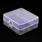 Plastic Battery Storage Case Box for 26650 - Translucent White