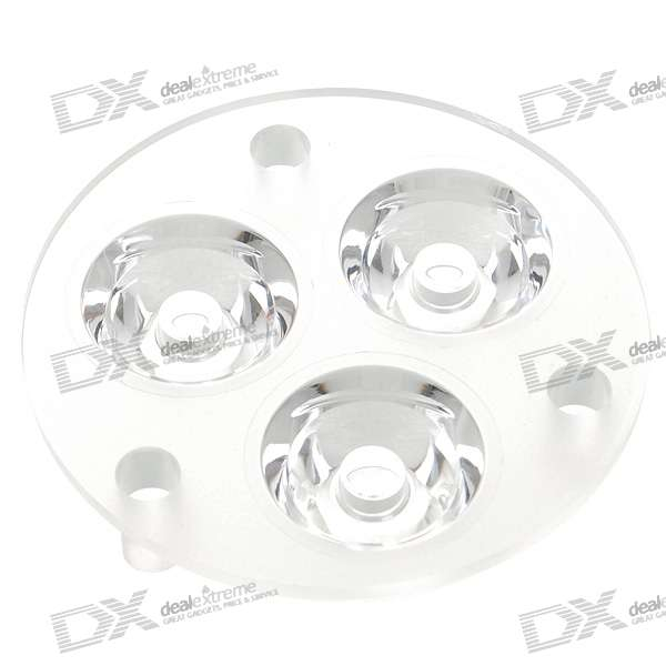50mm 3-LED Acrylic Lens for Flashlight