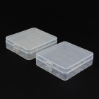 Plastic Battery Storage Case Box for 18650 / 17670 / 16340 - Translucent (2pcs)
