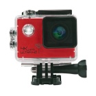 "2.0"" HD 1080P CMOS 170' Wide-Angle 16MP 4K Wi-Fi Waterproof Sports Camera Camcorder - Red"