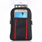 Fashion Universal Dual Pockets Phone Bag for Samsung / IPHONE - Black