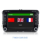 "7"" Touchscreen Win CE 6.0 Car DVD Player w/ GPS / BT / Radio / USB for VW Skoda - Black"