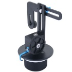YELANGU 15mm Rail Rod Stand-Alone Follow Focus for Camera Camcorders - Black + Blue