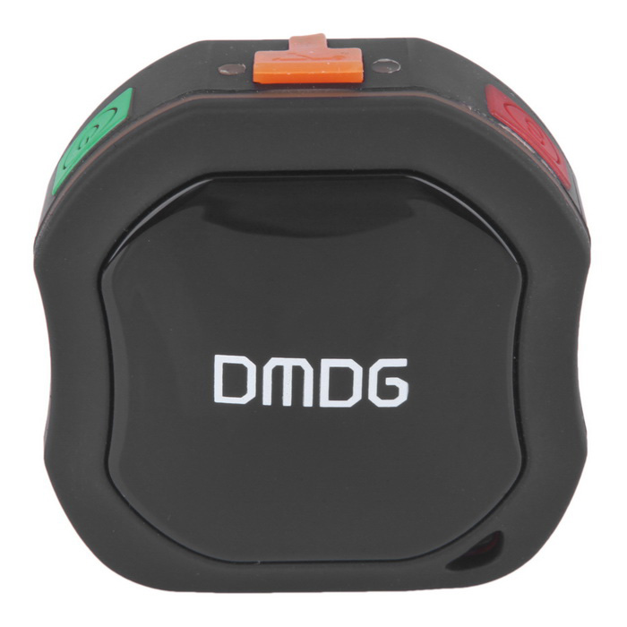 DMDG Mini GPS Tracker for Elder, Kids, Pets w/ Monitor,SOS - Black