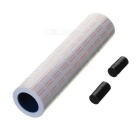 10-Roll Label Paper Tags + 2 Ink Rolls Set for Motex MX-5500 Price Gun Labeler - White + Black