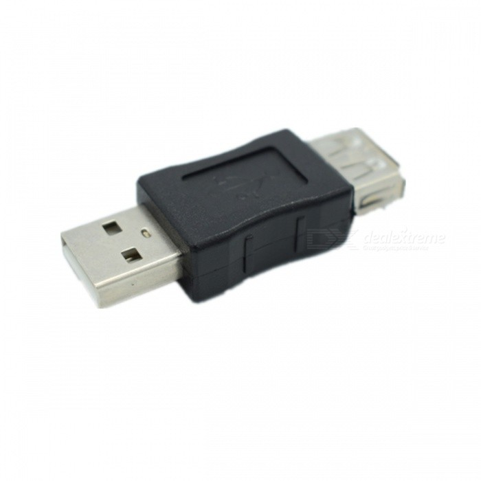 USB 2.0 Male to Female Extension Adapter - Grey