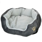 Anti-Static Warm Berber Fleece Pet Bed for Dog / Cat - Grey + White