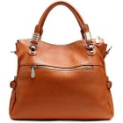 Women's Genuine Leather Leisure Shoulder Bag - Brown