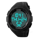 SKMEI 50m Waterproof Multi-functional PU Band Sports Watch w/ 3D Pedometer, Calorie Tracking - Black