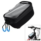 ROSWHEEL 1.6L Bicycle Handlebar Bag w/ Touch Screen / 2600mAh Mobile Power for Phone - Black (M)
