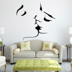 Beautiful Bedroom Decoration PVC Wall Sticker - Black (57 x 55cm)