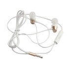 MGALL S6 3.5mm Wired In-Ear Earphones w/ Mic, Remote - Gold + White