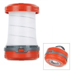 QOOFY 1W 1-LED 3-Mode 100lm 6000K White Light Outdoor Camping Folding Lantern Lamp - Red