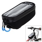 ROSWHEEL 1.8L Bicycle Handlebar Bag w/ Touch Screen / 2600mAh Mobile Power for Phone - Black (L)