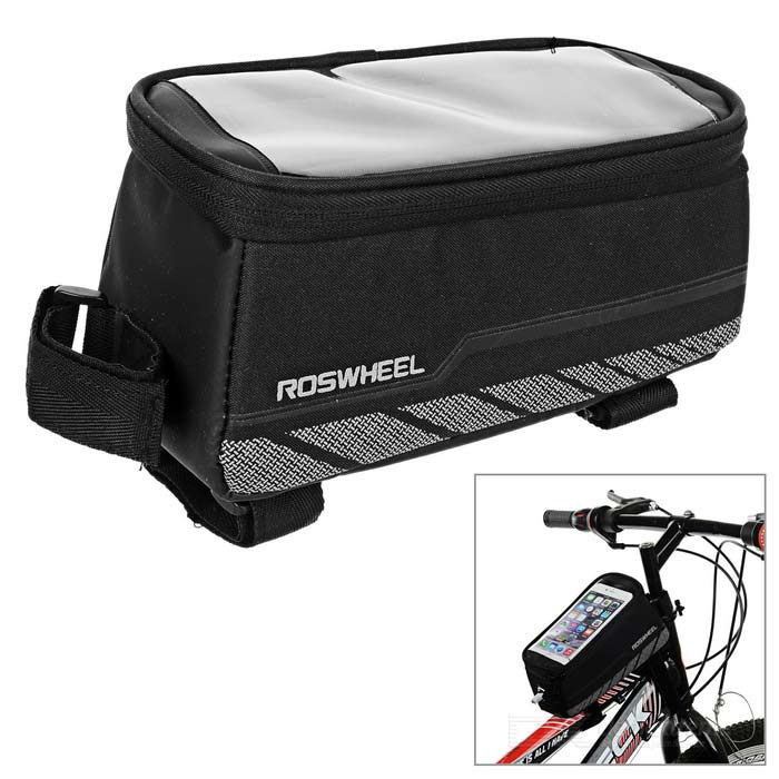ROSWHEEL 1.8L Reflective Bike Bag w/ Touch Screen for Phone - Black