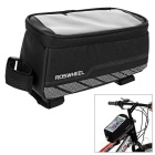 ROSWHEEL 1.8L Cycling Reflective Bike Saddle Bag w/ Touch Screen for Phone - Black (L)