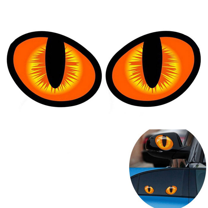 Rearview Mirror Decoration 3D Decals Simulation Cat Eyes Car Stickers