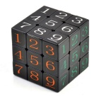 57mm 3 * 3 * 3 numeri arabi IQ cubo di rubik magic - nero + multi-color