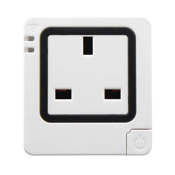 TS-S18 AC 90~265V 10A Smart Wi-Fi Wall Mounted UK Socket - White
