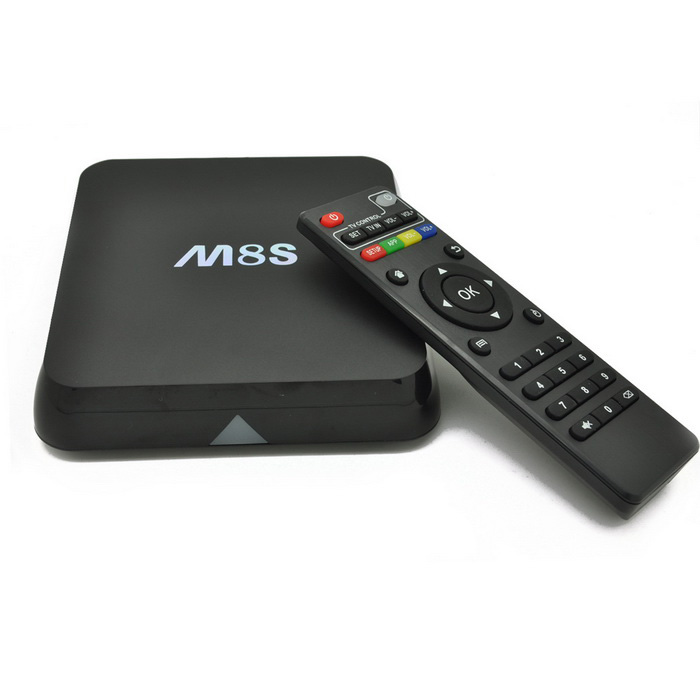 M8s Amlogic S812 Quad-core TV Box m / 2 GB RAM, 8 GB ROM - Svart (EU Plug)