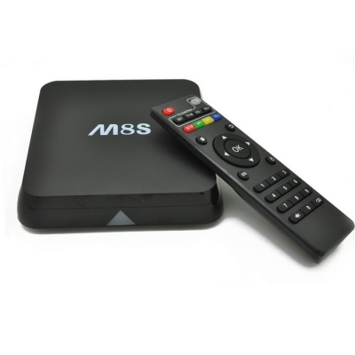 M8S Amlogic S812 Quad-core TV Box w/2GB RAM, 8GB ROM - Black (EU Plug)