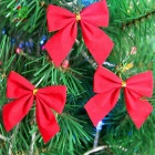 Christmas Decoration Bowknot - Red (12PCS)