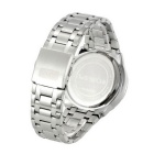 WESTCHI W9101GD-4 Men's Stainless Steel Band Watch - Silver + Black