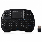 OURSPOP R7 0.5W 2.4G Wireless Backlight Keyboard for Raspberry Pi, MacOS, Linux, HTPC - Black