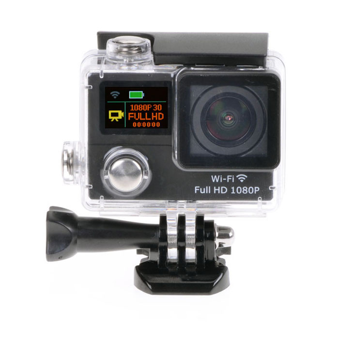 "1080P Wi-Fi 2 ""12MP mini waterdichte sport camera met ultra-brede lens"