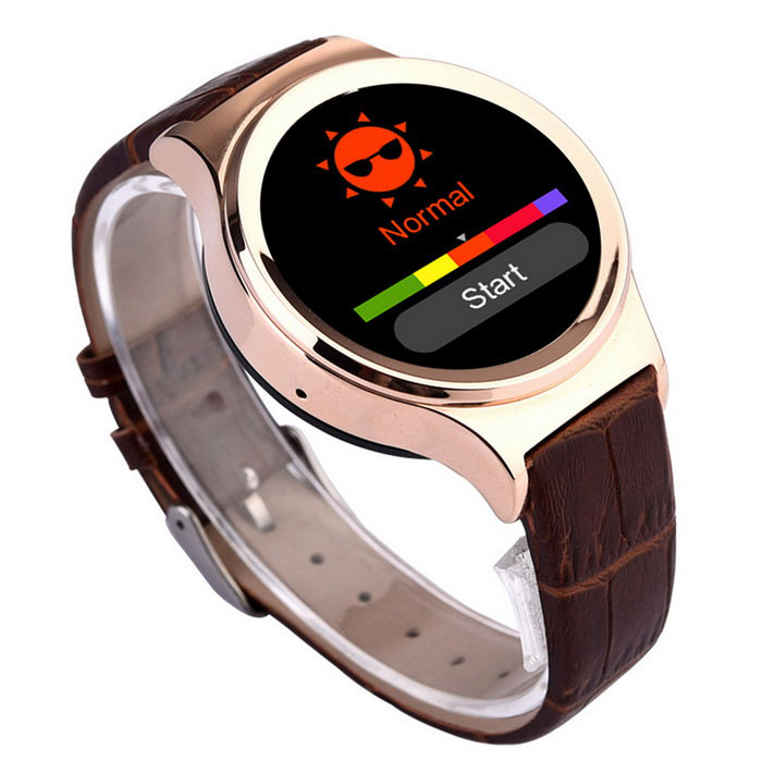 T3 1.22 GSM Smart Watch w/ Remote Picture, Pedometer + More - BrownSmart Watches<br>Form  ColorBrownModelT3MaterialLeather + aluminium alloyQuantity1 DX.PCM.Model.AttributeModel.UnitShade Of ColorBrownNetworkingGSMFrequencyGSM 850/900/1800/1900 MHZData TransferGPRSSIM TypeMicro SIMSIM Slot1Network StandbySingle StandbyNetwork ConversationOne-Party Conversation OnlyGPSNoTypeBrand NewOperating SystemOthers,Others(Sync Android OS)CPU ProcessorMTK2502 &amp; MTK6260CPU Core QuantitySingle CoreLanguageEnglish, ChineseRAMNoROMNoMemory CardSupports TF card up to 16GBScreen Size1.22 DX.PCM.Model.AttributeModel.UnitTouch Screen TypeCapacitive ScreenScreen Resolution240 x 204Main Camera Lens FeaturesNoFlashNoTouch FocusNoBattery Capacity380 DX.PCM.Model.AttributeModel.UnitBattery TypeLi-polymer batteryTalk Time3 DX.PCM.Model.AttributeModel.UnitStandby Time160 DX.PCM.Model.AttributeModel.UnitWorking Time6 DX.PCM.Model.AttributeModel.UnitBluetooth VersionBluetooth V3.0TVNoRadio TunerNoWaterproof LevelIPX0 (Not Protected)SensorNoI/O InterfaceMicro USB,SIM SlotSoftwarePedometer, sleep tracker, etc.Wristband MaterialLeatherWristband Length20.5 DX.PCM.Model.AttributeModel.UnitPacking List1 x Smart watch1 x USB Charging Ccable(40cm)1 x Charging dock1 x Chinese / English user manual<br>