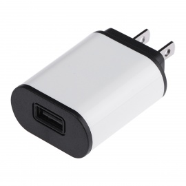 Universal 5V 2A USB Charger for IPAD / Phone - White + Black (US Plugs)