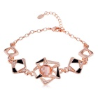 Xinguang Unique Whirlwind Design Crystal Bracelet for Women - Rose Gold
