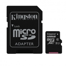 Kingston MicroSDXC 128GB UHS-I with SD Adapter SDC10G2/128GB