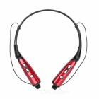 Stereo Bluetooth V4.0 Neckband Headphone Headset w/ Mic & USB for IPHONE & More - Red + Black