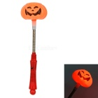 3-Mode Red Light Pumpkin Lamp Glowing Stick for Halloween - Orange