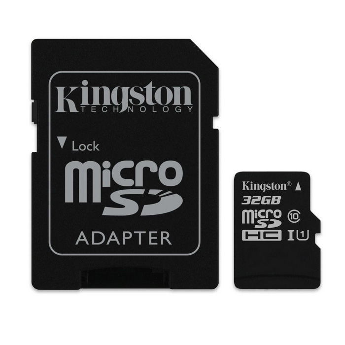 Kingston MicroSDHC 32GB UHS-I avec adaptateur SD SDC10G2 / 32GB
