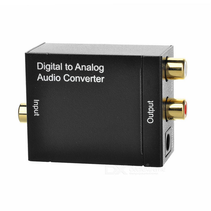 Optical Coaxial Toslink Digital Signal to Analog Audio Converter