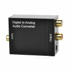 Optical Coaxial Toslink Digital Signal to Analog Audio Converter Adapter w/ Toslink Cable (US Plug)