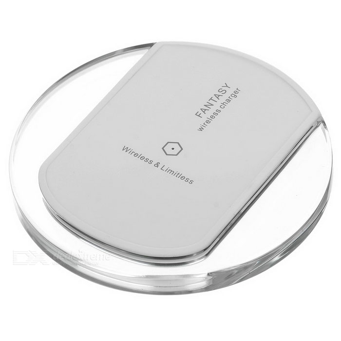 Universal Qi Wireless Charger for Samsung, IPHONE, HTC + More - WhiteWireless Chargers<br>Form  ColorWhite + TransparentPower AdapterOthersQuantity1 DX.PCM.Model.AttributeModel.UnitMaterialAcrylicExecutive StandardQiShade Of ColorWhiteTypeChargerCompatible ModelsSamsung, IPHONE, HTC, Xiaomi, Huawei, Google etc.Transmition Distance6mmCharging Efficiency&gt;70%Built-in BatteryNoInput5V / 2AOutput interface, output current, output voltage5V / 1APacking List1 x Charger1 x USB cable (80cm)<br>